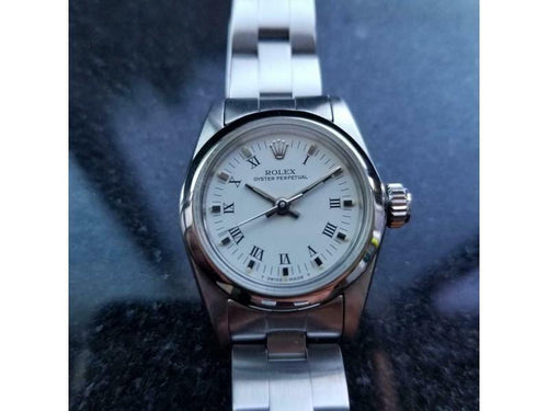 Ladies ROLEX Ladies Oyster Perpetual Ref.67180 Ss Automatic, C.1984 Swiss Luxury LV906 PRE-OWNED - Global Timez