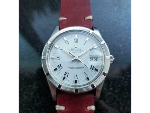 Men's  Rolex Ref.15010 Oyster Perpetual Date Automatic, C.1980s W/Paper MS136RED PRE-OWNED - Global Timez