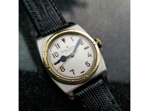 Men's  Rolex Oyster Viceroy 3359 14k Gold & SS Hand-Wind, C.1946 Vintage MA163BLK PRE-OWNED - Global Timez