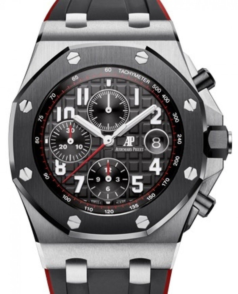 Men's Audemars Piguet Royal Oak Offshore Selfwinding Chronograph 26470SO.OO.A002CA.01 Black Arabic Stainless Steel Rubber 42mm BRAND NEW