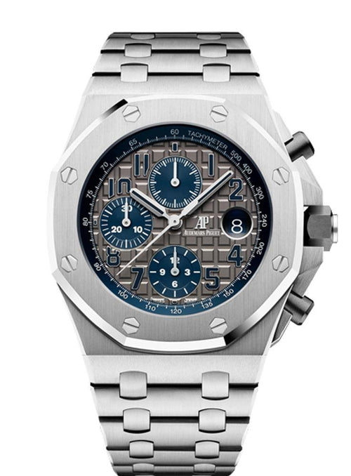 Men's Audemars Piguet Royal Oak Offshore Selfwinding Chronograph 26474TI.OO.1000TI.01 Slate Arabic Titanium 42mm BRAND NEW - Global Timez