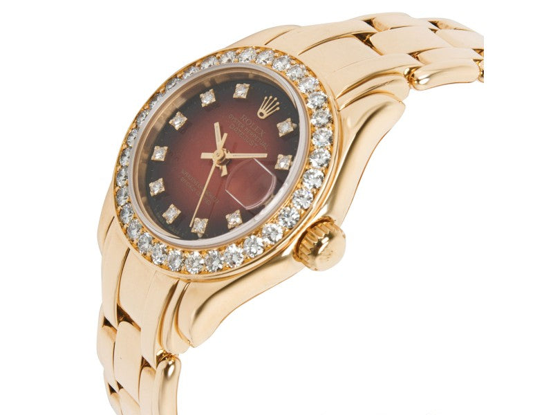 Ladies Rolex Pearlmaster 69298 Watch In 18kt Yellow Gold PRE-OWNED