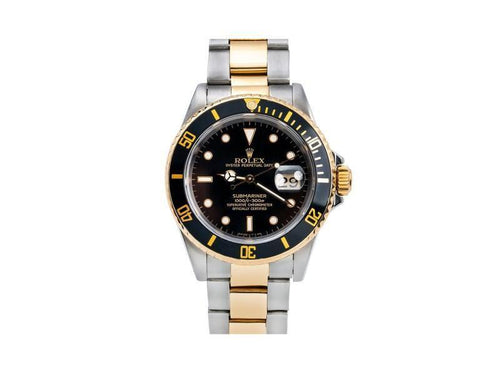 Men's Rolex Submariner Date 16803 40mm Mens Watch PRE-OWNED - Global Timez