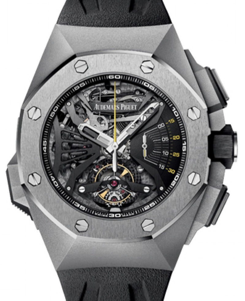 Men's Audemars Piguet 26577TI.OO.D002CA.01 Royal Oak Concept Supersonnerie 44mm Openworked Titanium Rubber BRAND NEW