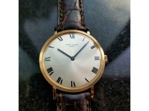 Men's PATEK PHILIPPE Men'S 18K Gold Calatrava Ref.3538 Hand-Wind, C.1970s Swiss LV813 PRE-OWNED - Global Timez