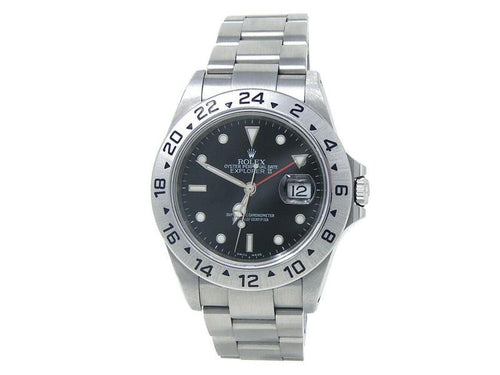 Men's Rolex Explorer II (P Serial) Stainless Steel  Watch Automatic 16570 PRE-OWNED - Global Timez