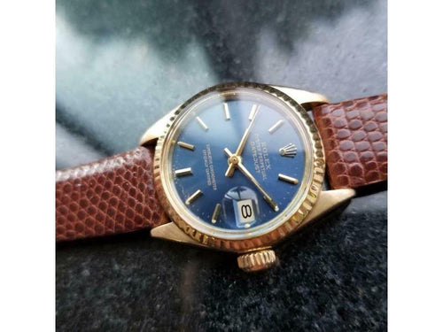 Ladies ROLEX 18k Gold Oyster Lady Datejust 6917 Automatic, C.1976 Swiss Luxury LV878 PRE-OWNED - Global Timez