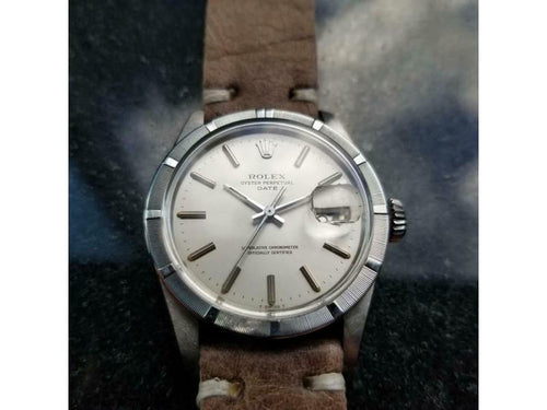 Men's  Rolex Vintage Oyster Perpetual Date 1501 Automatic, C.1975 Swiss LV918TAN PRE-OWNED - Global Timez