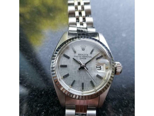 Ladies Rolex 18K & SS 6917 Lady Datejust Automatic C.1978 Vintage Swiss Luxury MS167 PRE-OWNED - Global Timez