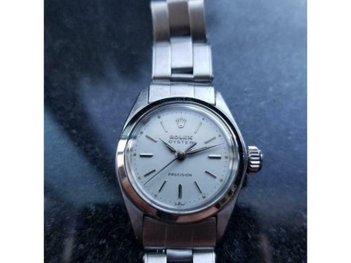 Ladies Rolex Oyster Precision Ref.6410 24mm Manual Wind, C.1960s LV700 PRE-OWNED - Global Timez