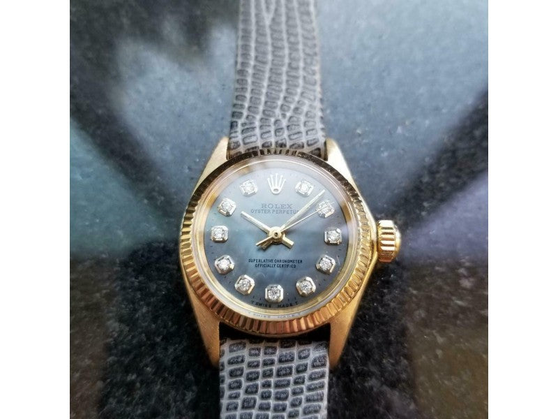 Ladies Rolex Oyster Perpetual Ref.6619 25mm 18k Gold Automatic, C.1960s LV875GRY PRE-OWNED