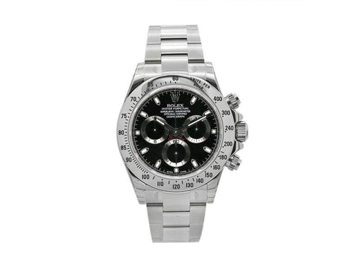 Men's Rolex Daytona Cosmograph 40 Mm, Stainless Steel With Black Dial, 116520 PRE-OWNED - Global Timez