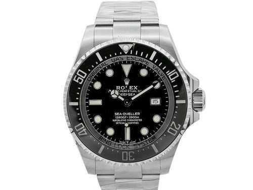Men's  Rolex Deepsea 44mm, Stainless Steel, Black Dial, 126660 PRE-OWNED - Global Timez