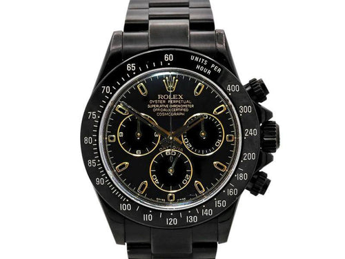 Men's Rolex Daytona, PVD Coated Stainless Steel, Yellow Gold, Black Dial, 116523 PRE-OWNED - Global Timez