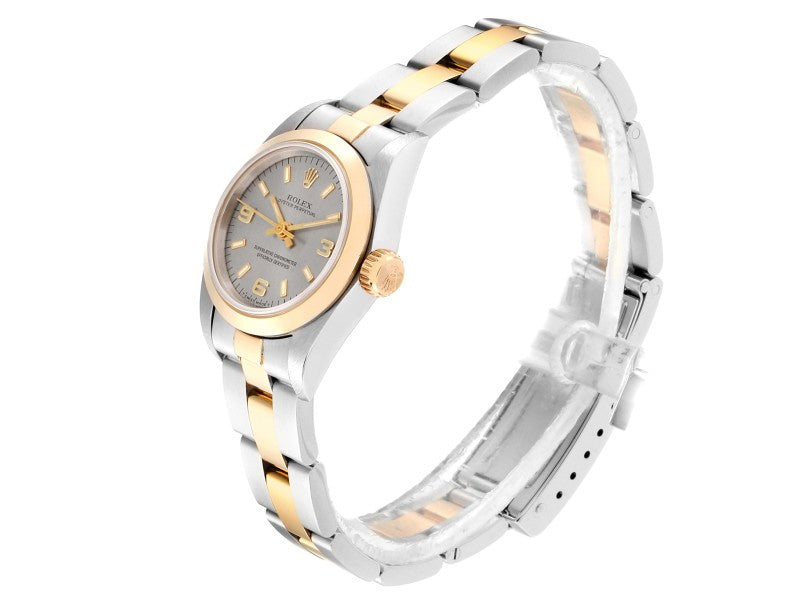 Ladies Rolex Oyster Perpetual NonDate Steel Yellow Gold Ladies Watch 67183 PRE-OWNED