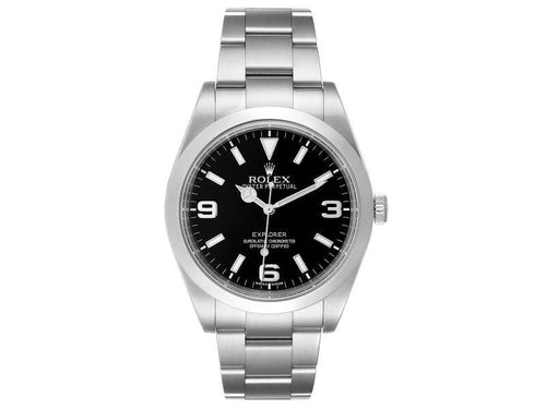 Men's Rolex Explorer I 39 Black Dial Automatic Mens Watch 214270 PRE-OWNED - Global Timez