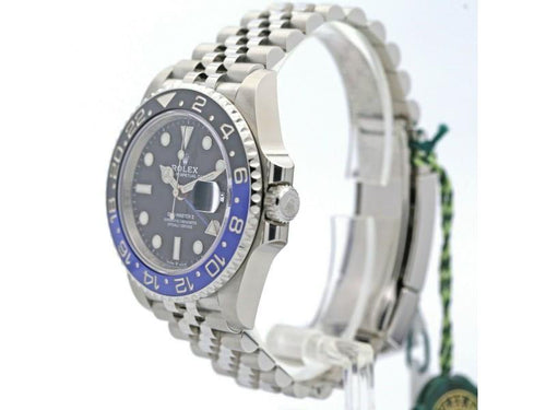 Men's  Rolex GMT-Master II Batman 40 Watch W/ Black Dial 126710BLNR BRAND NEW - Global Timez