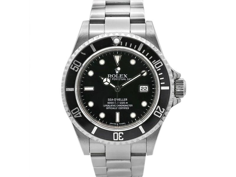 Men's  Pre-Owned Rolex Sea-Dweller 40mm, Stainless Steel, Black Dial, 16600 PRE-OWNED