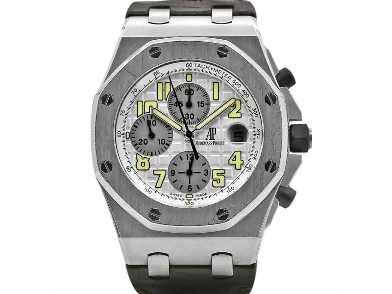 Men's Audemars Piguet Royal Oak Offshore 42, White Dial, 26020ST.OO.D001IN.02.A PRE-OWNED