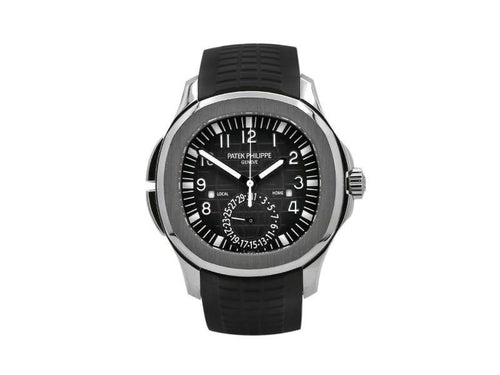 Men's Men'S Patek Philippe Aquanaut Travel Time 40.8, Steel, Black Dial, 5164A-001 PRE-OWNED - Global Timez