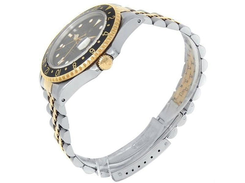 Men's Rolex GMT-Master II 18k Yellow Gold Steel Jubilee Auto Black  Watch 16713 BRAND NEW - Global Timez