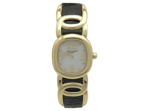 Ladies Patek Philippe Ellipse 4830J 18K Yellow Gold & Mother Of Pearl Dial 23mm  Watch PRE-OWNED - Global Timez