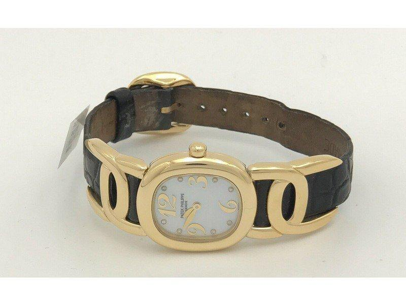 Ladies Patek Philippe Ellipse 4830J 18K Yellow Gold & Mother Of Pearl Dial 23mm  Watch PRE-OWNED