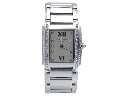 Ladies Patek Philippe Twenty-4 4910-G/001 18K White Gold & Diamonds Quartz 22mm  Watch PRE-OWNED - Global Timez