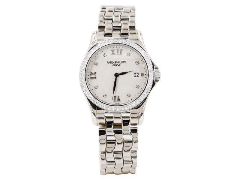 Ladies Patek Philippe Calatrava 4906-101g 28mm  Watch PRE-OWNED - Global Timez