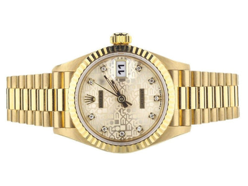 Ladies Rolex Datejust Ref: 69178 Jubilee Dial Diamond Indicators Yellow Gold PRE-OWNED