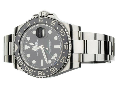 Men's Rolex GMT Master II Stainless Steel 40mm Ref 116710LN Full Set PRE-OWNED - Global Timez
