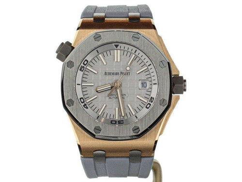 Men's Audemars Piguet Royal Oak Offshore Diver Rose Gold Japan 15711OI.OO.A006CA.01 PRE-OWNED - Global Timez