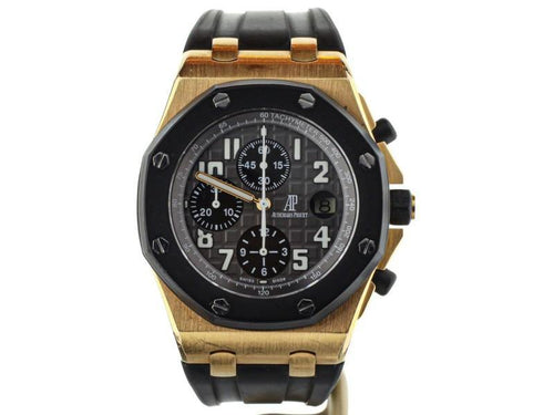 Men's Audemars Piguet Royal Oak Offshore Rubberclad Rose 42mm 26178K.OO.D002CA.01 PRE-OWNED - Global Timez