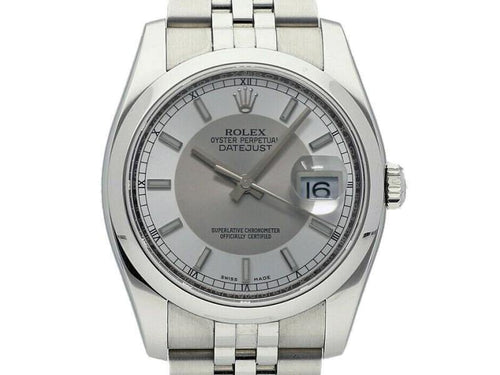 Men's Rolex Datejust 36mm 116200 Unisex Stainless Steel 36mm PRE-OWNED - Global Timez
