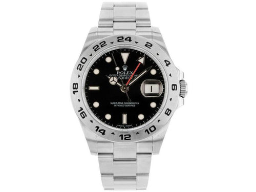 Men's Rolex 216570 Explorer II  Stainless Steel Black PRE-OWNED - Global Timez