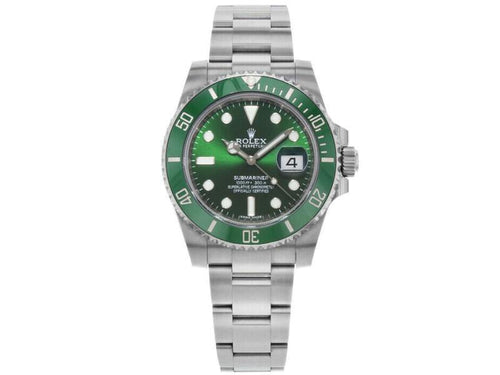Men's Rolex 116610 Submariner  Stainless Steel Green BRAND NEW - Global Timez