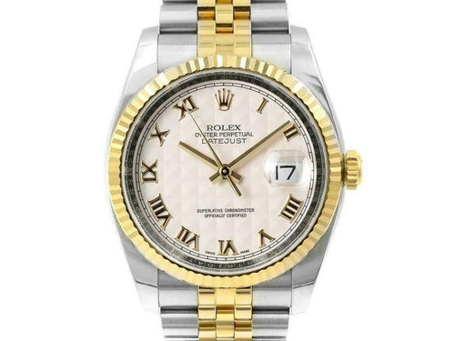 Men's Rolex Datejust 36mm 116233 Unisex Stainless Steel Automatic Cream BRAND NEW - Global Timez