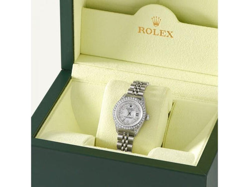 Ladies Rolex Datejust 26mm Steel Jubilee Diamond Watch W/Royal MOP Dial PRE-OWNED - Global Timez