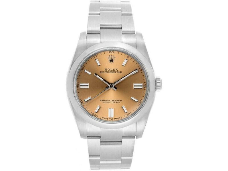 Men's Rolex 116000 Oyster Perpetual 36  Stainless Steel Salmon PRE-OWNED