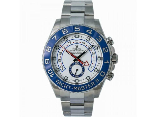 Men's Rolex Yacht-Master II 116680  Stainless Steel Automatic White PRE-OWNED - Global Timez