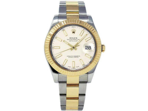 Men's Rolex Datejust II 116333  Stainless Steel Automatic Cream BRAND NEW - Global Timez