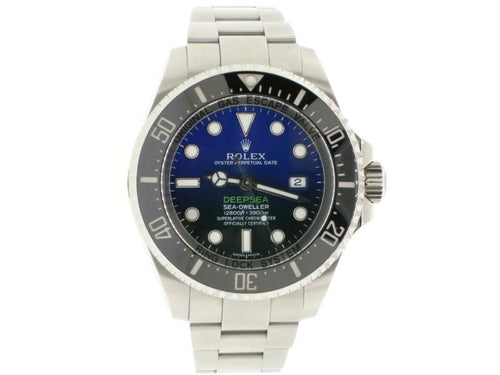 Men's Rolex Sea-Dweller DeepSea 44mm D-Blue James Cameron Dial Steel Watch 116660 PRE-OWNED - Global Timez