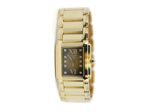 Ladies Patek Philippe Twenty 4 Diamond Tiffany & Co 18K Yellow Gold Watch 4907/1J-010 PRE-OWNED - Global Timez