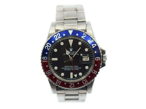 Men's Rolex GMT-Master Stainless Steel Watch 1675 PRE-OWNED - Global Timez