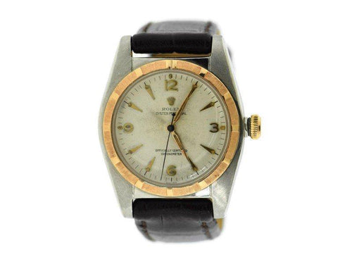 Men's Rolex Oyster Perpetual Bubbleback 14K/Stainless Steel Watch 5011 PRE-OWNED - Global Timez