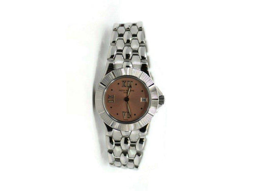 Ladies Patek Philippe Neptune Pink Dial Stainless Steel Watch 4880 PRE-OWNED - Global Timez