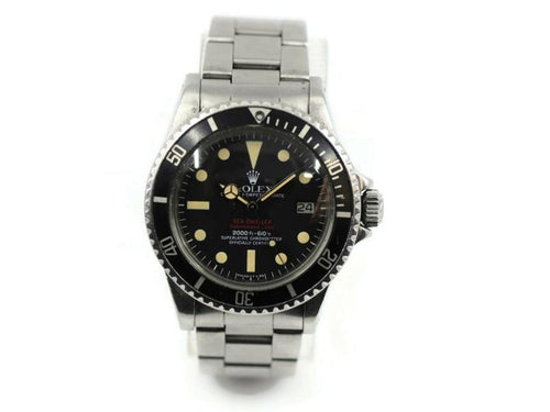 Men's Rolex Sea Dweller Double Red MKIV Dial Stainless Steel Watch 1665 PRE-OWNED - Global Timez