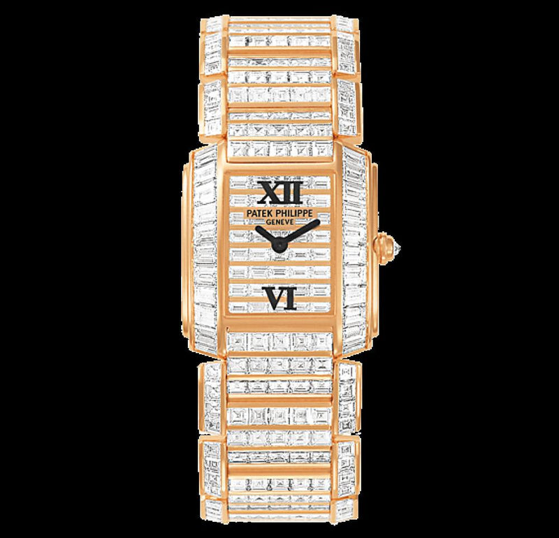 Patek Philippe 4908/101R-001 Twenty~4 Ladies 24 x 27.75mm Diamond Set Rose Gold Quartz BRAND NEW