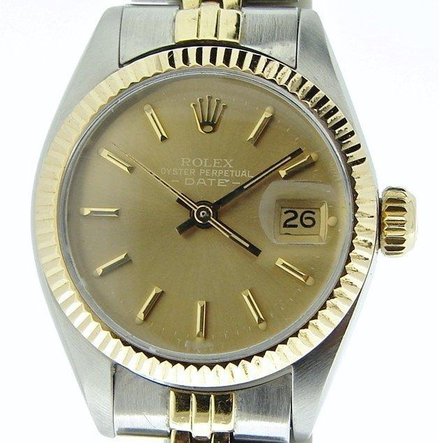 Ladies Rolex Two-Tone 14K/SS Date Bronze 6917 PRE-OWNED