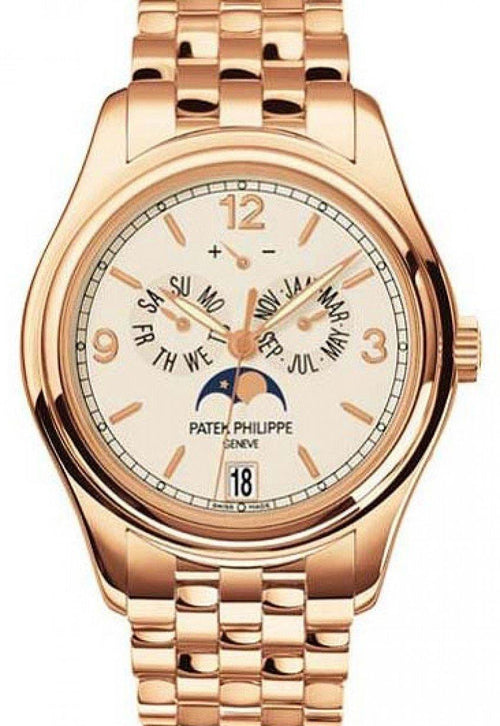 Men's Patek Philippe 5146/1R-001 Complications Annual Calendar Moon Phase Date 39mm Cream Arabic Index Rose Gold Automatic BRAND NEW - Global Timez